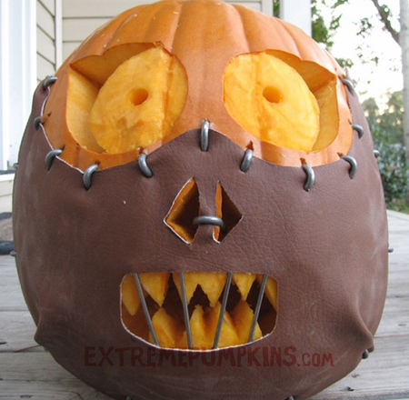 Com a great collection of hand painted pumpkins from around the world